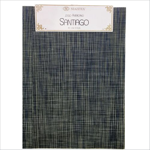 JOGO AMERICANO SANTIAGO 4PCS 0,30X0,45 DES 002 - NIAZITEX