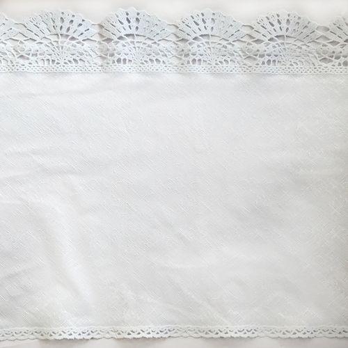 ROLO PVC RENDADO LISO LG0,35  DES.001/BRANCO