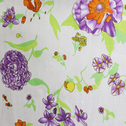 TECIDO TRICOLINE LG1,45 PURPLE FLOWER