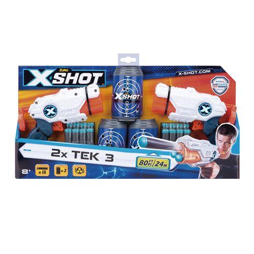 LANCADOR X SHOT-2X MK3 DOUBLE C/LT X3 TIROS COR/AZL/BCO/CINZ(5514)