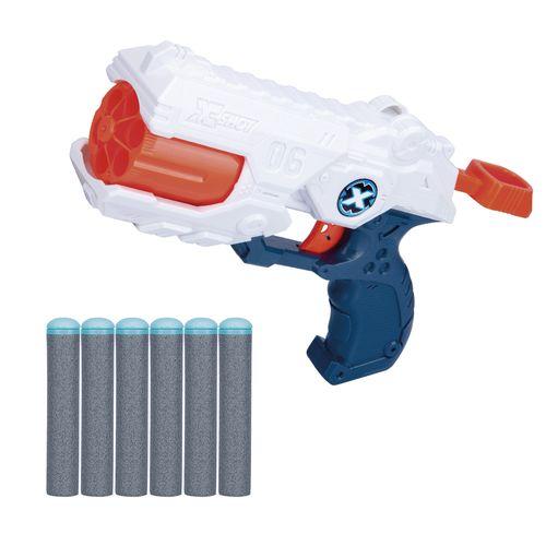 LANCADOR X SHOT TK6 - 6 DARDOS COR/AZUL/BCO/CINZ(5516)