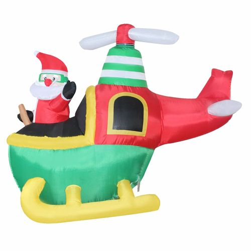 HELICOPTERO PAPAI NOEL INFLAVEL 150CM