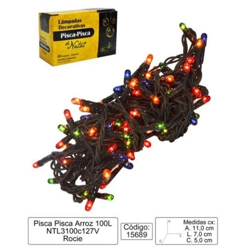 MICRO LAMPADAS 100 LAMPADAS 8 FUNCOES COLORIDAS (NTL3100C127V)