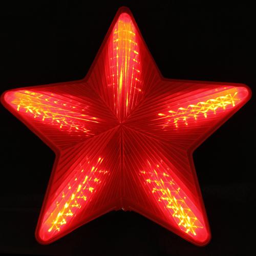 ESTRELA GRANDE LED VERMELHA DIGITAL BIVOLT (11561)