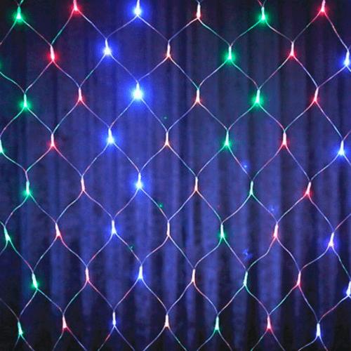 REDE 144 LEDS COLOR FIO BR DIGITAL 1,5M X 1,3M (16125)