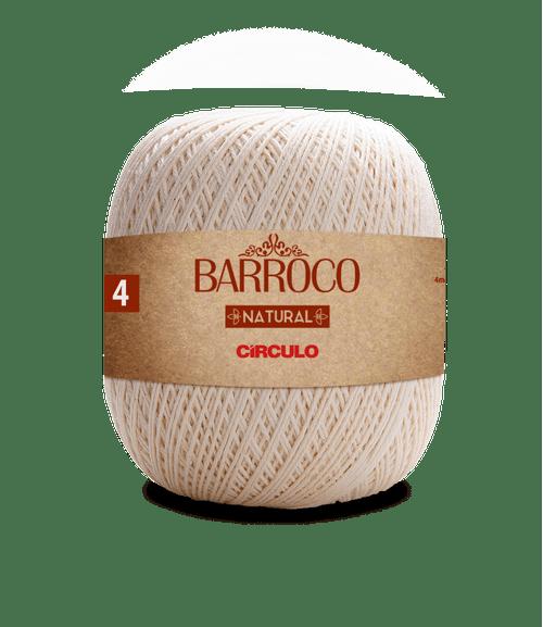 LINHA CIRCULO FIO BARROCO NATURAL 4 700GR COR 20