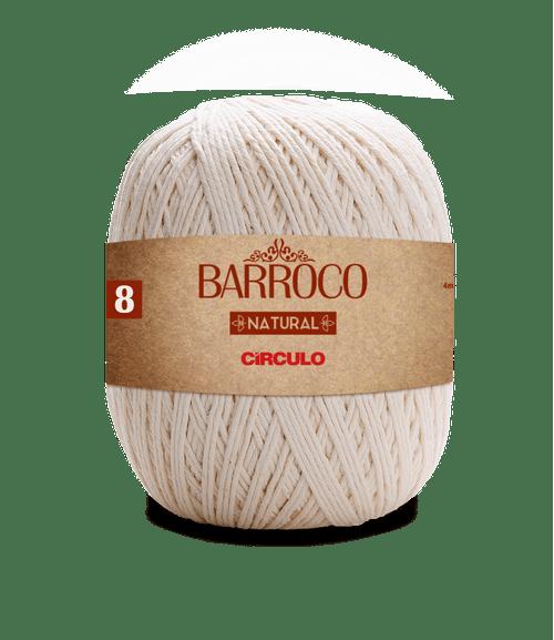LINHA CIRCULO FIO BARROCO NATURAL 8 700GR COR 20