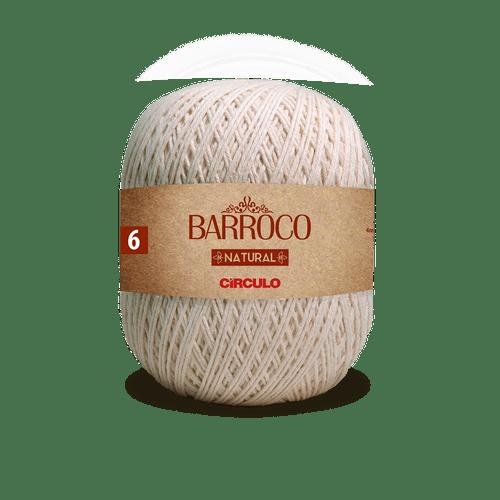 LINHA FIO BARROCO 700GR NATURAL 6  - COR 20