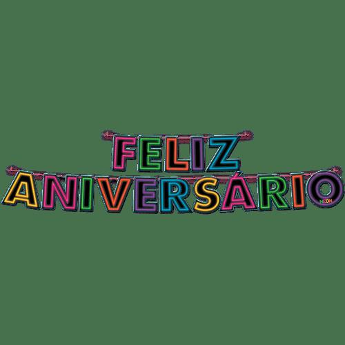 FAIXA FELIZ ANIVERSARIO NEON 12X01
