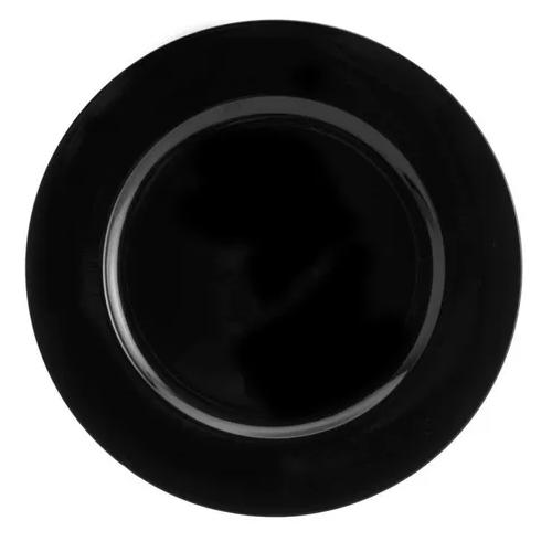 SOUSPLAT DE PLASTICO OPALA PRETO (7614) - LYOR