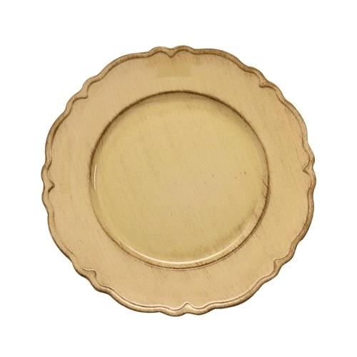 SOUSPLAT PATINADO DE PLASTICO MOON BEGE (7680) - LYOR