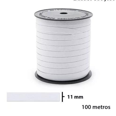 ELASTICO PIGEON N18 69%ALG 31%ELASTODIENO 11MM ROLO C/100M BRANC 1