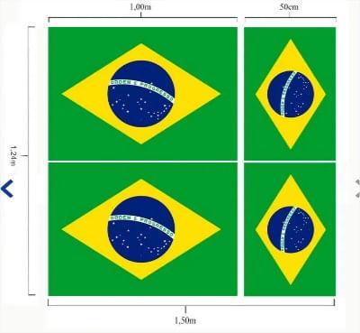 TECIDO BANDEIRA DO BRASIL NIAZI LG1,50 X 1,20 DES 03   TECIDO BAND