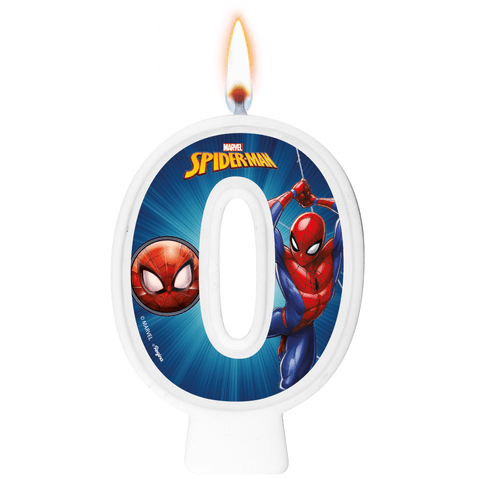 VELA NUMERAL SPIDER MAN ANIMACAO NUMERO 0 01 un