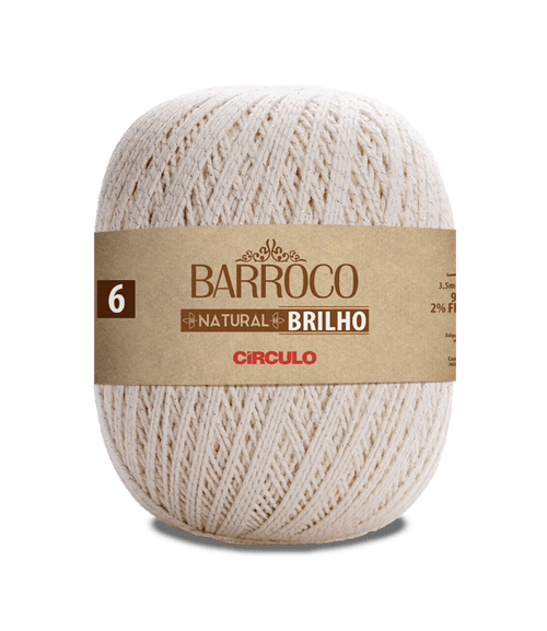 LINHA CIRCULO FIO BARROCO NAT 6 BRILHO PRATA 700GR
