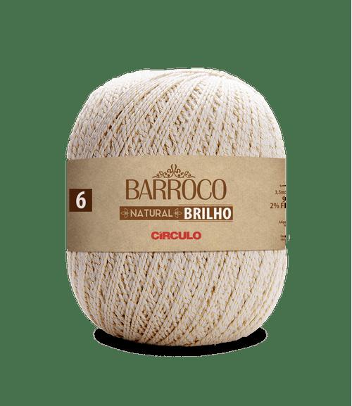 LINHA CIRCULO FIO BARROCO NAT 6 BRILHO OURO 700GR